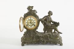Bronze Ansonia The Composer Figural Mantel Clock - 2107497
