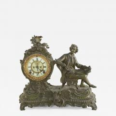 Bronze Ansonia The Composer Figural Mantel Clock - 2109303