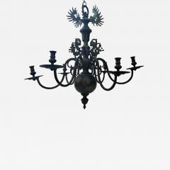 Bronze Baroque Six Arm Chandelier Dutch Flemish - 753868