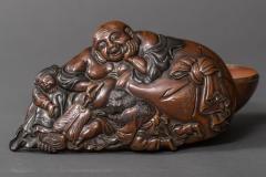 Bronze Box in Hotei Shojo Design With Silver - 338801