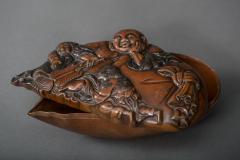 Bronze Box in Hotei Shojo Design With Silver - 338802