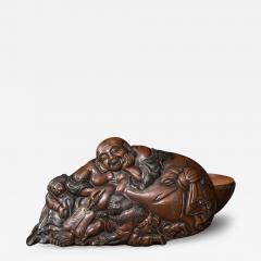 Bronze Box in Hotei Shojo Design With Silver - 339757
