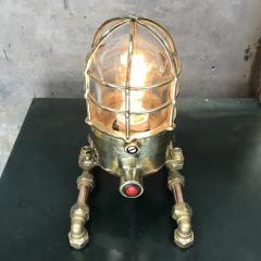 Bronze Brass Glass Copper Edison Steampunk Industrial Table Lamp - 1029741