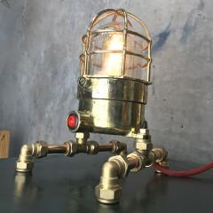 Bronze Brass Glass Copper Edison Steampunk Industrial Table Lamp - 1029743