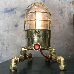 Bronze Brass Glass Copper Edison Steampunk Industrial Table Lamp - 1029744
