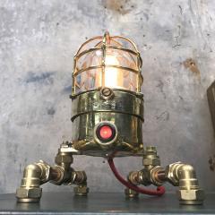 Bronze Brass Glass Copper Edison Steampunk Industrial Table Lamp - 1029745