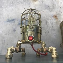 Bronze Brass Glass Copper Edison Steampunk Industrial Table Lamp - 1029746