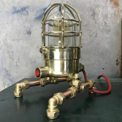 Bronze Brass Glass Copper Edison Steampunk Industrial Table Lamp - 1029747