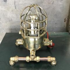 Bronze Brass Glass Copper Edison Steampunk Industrial Table Lamp - 1029753