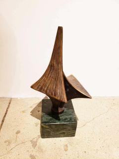 Bronze Brutalist Style Sculpture on Marble Base C 20th Century - 1307455