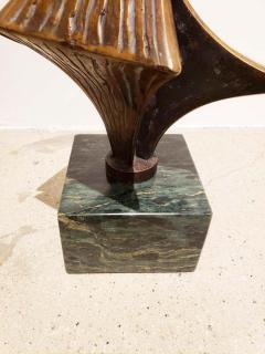 Bronze Brutalist Style Sculpture on Marble Base C 20th Century - 1307459