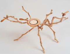 Bronze Magnolia Candle Holder - 1233764