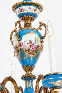 Bronze Mounted Sevres Porcelain Seven Arm Chandelier - 1170400