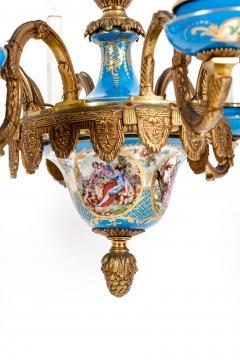 Bronze Mounted Sevres Porcelain Seven Arm Chandelier - 1170401