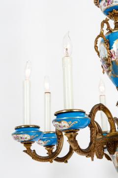 Bronze Mounted Sevres Porcelain Seven Arm Chandelier - 1170403