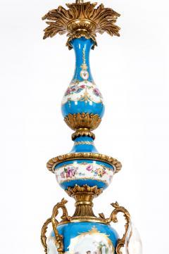 Bronze Mounted Sevres Porcelain Seven Arm Chandelier - 1170404