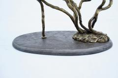 Bronze Tree Form Coffee Table With Slate Base France 1960s - 1903997