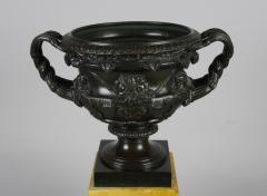 Bronze and Sienna Marble Warwick Vase early 19th c  - 757277