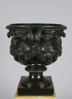Bronze and Sienna Marble Warwick Vase early 19th c  - 757278
