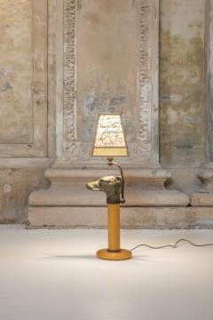 Bronze and opaline glass table lamp - 1273943