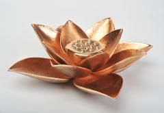 Bronze lotus flower candle holder - 1233740