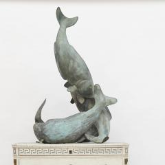 Bronze sculpture in the form of 4 intertwined Koi carps - 1153205
