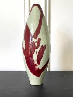 Brother Thomas Bezanson Porcelain Celadon Vase with Copper Glaze by Brother Thomas Bezanson - 1982863