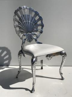 Brown Jordan Pair Venetian Grotto Style Aluminum Shell Chairs - 567072