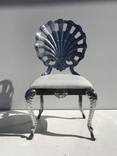 Brown Jordan Pair Venetian Grotto Style Aluminum Shell Chairs - 567073