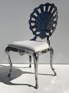 Brown Jordan Pair Venetian Grotto Style Aluminum Shell Chairs - 567074