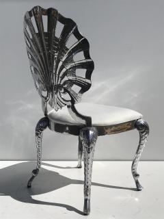 Brown Jordan Pair Venetian Grotto Style Aluminum Shell Chairs - 567075