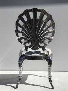 Brown Jordan Pair Venetian Grotto Style Aluminum Shell Chairs - 567076