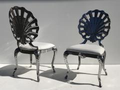 Brown Jordan Pair Venetian Grotto Style Aluminum Shell Chairs - 567080