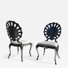 Brown Jordan Pair Venetian Grotto Style Aluminum Shell Chairs - 568519