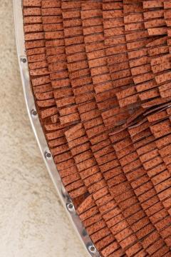 Brown Leather Fringe Mirror - 1616596