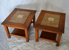 Brown Saltman Matched Pair of Stone Inlayed End Tables from Brown Saltman - 572740