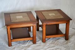 Brown Saltman Matched Pair of Stone Inlayed End Tables from Brown Saltman - 572744