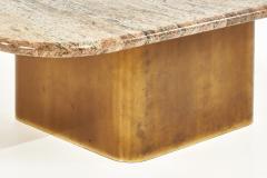 Brueton Brass Base Granite Top Coffee Table 1970 - 2053369