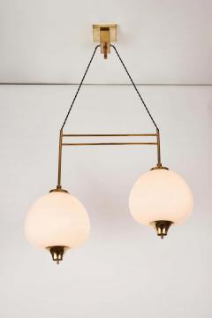 Bruno Chiarini 1950s Bruno Chiarini Double Pendant Suspension Lamp for Stilnovo - 1769710