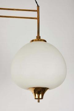 Bruno Chiarini 1950s Bruno Chiarini Double Pendant Suspension Lamp for Stilnovo - 1769713