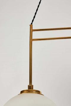 Bruno Chiarini 1950s Bruno Chiarini Double Pendant Suspension Lamp for Stilnovo - 1769715