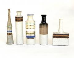 Bruno Gambone Bruno Gambone Italian Ceramic Miniatures Collection of Five Vases - 1061987