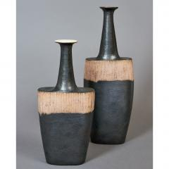 Bruno Gambone Pair of Long Neck Vessels - 933898