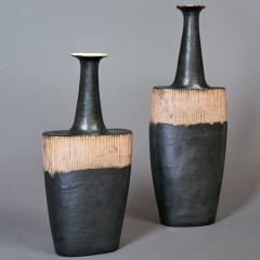 Bruno Gambone Pair of Long Neck Vessels - 933901