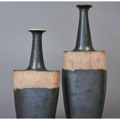 Bruno Gambone Pair of Long Neck Vessels - 933903