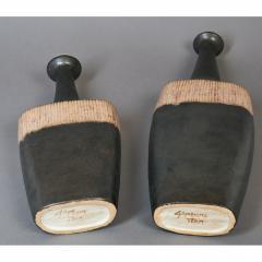 Bruno Gambone Pair of Long Neck Vessels - 933904