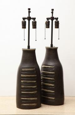 Bruno Gambone Pair of Monumental Lamps - 1116627