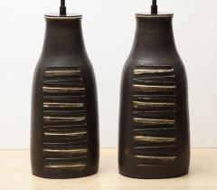 Bruno Gambone Pair of Monumental Lamps - 1116628