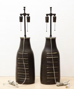 Bruno Gambone Pair of Monumental Lamps - 1116629