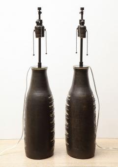 Bruno Gambone Pair of Monumental Lamps - 1116630
